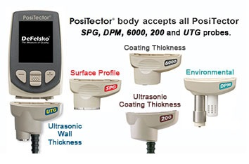 Positector interchangeable probe diagram
