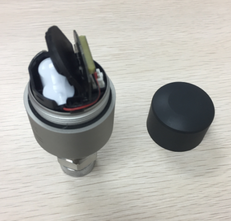 RH 505 Wireless  Sensor Inside with battery pack